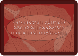 MEANINGFUL QUESTIONS CARD