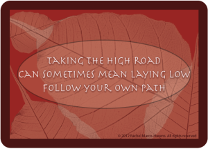 TAKING THE HIGH ROAD CARD